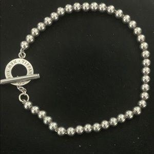 "Tiffany and co. Mini bead toggle bracelet 7"""